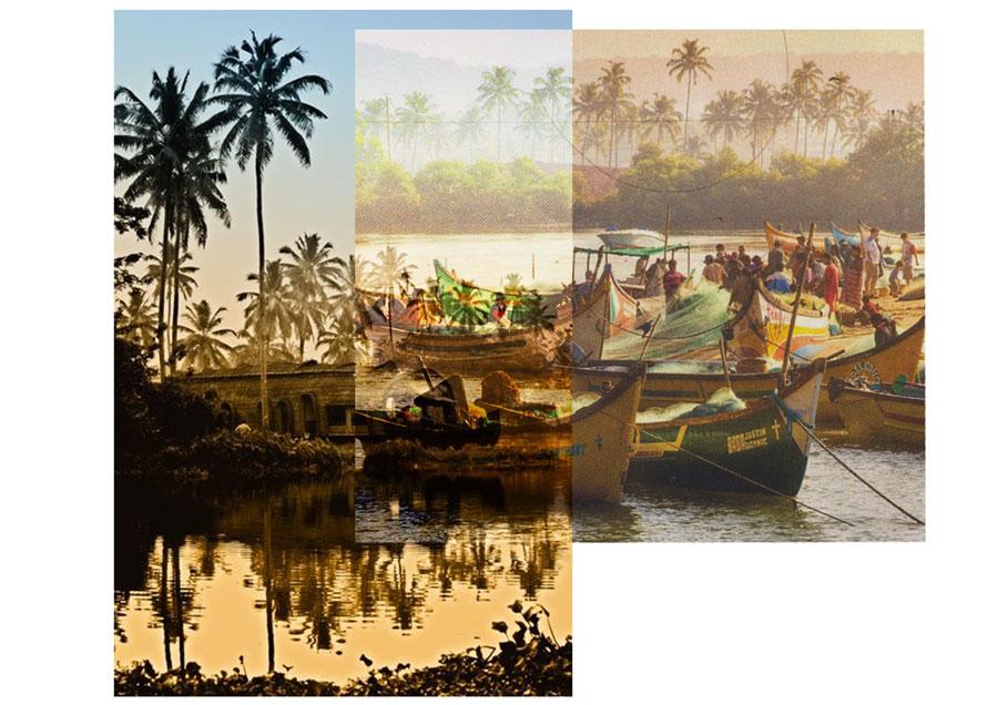 Goa - mer - bateaux - Antik Batik