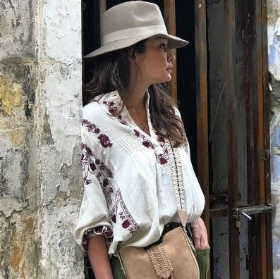 Weggee blouse is perfect for a trip to Greece