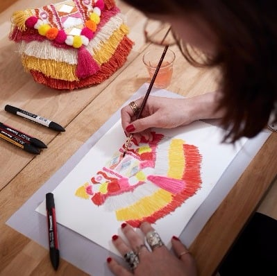 Frika bag, illustration, Antik Batik